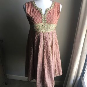 VINTAGE beaded dress with gold detail RARE